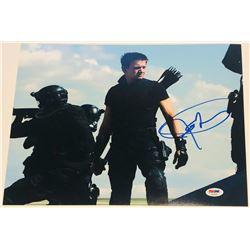 """Jeremy Renner Signed """"The Avengers"""" 11x14 Photo (PSA COA)"""