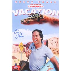 """Chevy Chase Signed """"National Lampoon's Vacation"""" 12x18 Photo (Beckett COA  Chase Hologram)"""