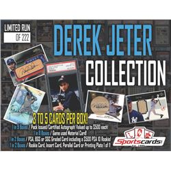 """Sportscards.com """"Derek Jeter Collection"""" Mystery Card Box – 3 to 5 Cards Per Box!"""