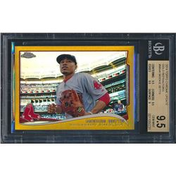 2014 Topps Chrome Update Gold Refractors #MB46 Mookie Betts RC (BGS 9.5)