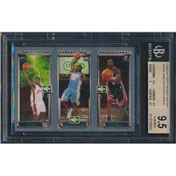 2003-04 Topps Rookie Matrix #JAW LeBron James 111 RC/Carmelo Anthony 113 RC/Dwyane Wade 115 RC (BGS