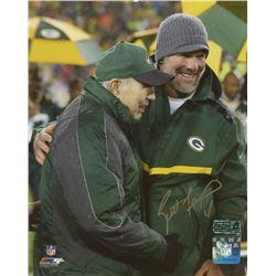 Brett Favre Signed Green Bay Packers 8x10 Photo With Bart Starr (Radtke COA)