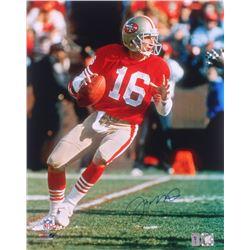 Joe Montana Signed San Francisco 49ers 16x20 Photo (Montana Hologram)
