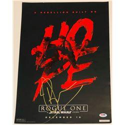 "Ben Mendelsohn Signed LE ""Rogue One: A Star Wars Story"" 13x19 Poster (PSA COA)"
