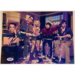 """The Big Bang Theory"" 8.5x11 Photo Signed By (5) with Kaley Cuoco, Johnny Galecki, Jim Parsons, Kuna"