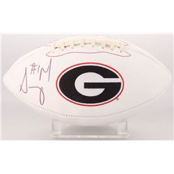 Sony Michel Signed Georgia Bulldogs Logo Football (Radtke COA)