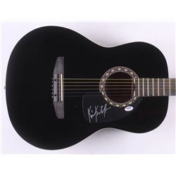 "Kris Kristofferson Signed 38"" Rogue Acoustic Guitar (PSA COA)"
