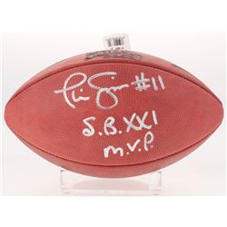 "Phil Simms Signed Official Super Bowl XXI Game Ball Inscribed ""S.B. XXI M.V.P."" (Radtke COA)"