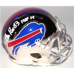 "Andre Reed Signed Buffalo Bills Chrome Mini Speed Helmet Inscribed ""HOF 14"" (Radtke COA)"