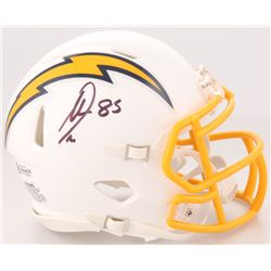 Antonio Gates Signed San Diego Chargers Mini Color Rush Speed Helmet (Beckett COA)