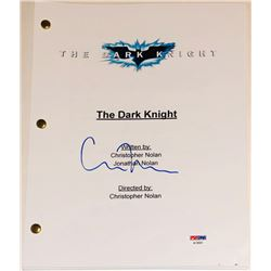 "Christopher Nolan Signed ""The Dark Knight Rises"" Movie Script (PSA COA)"