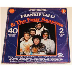 "Frankie Valli Signed ""The Greated Hits of Frankie Valli  The Four Seasons"" Vinyl Record Album (PSA C"