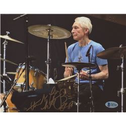 "Charlie Watts Signed 8x10 Photo Inscribed ""Thank You"" (Beckett COA)"