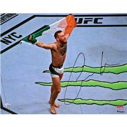 """Conor McGregor Signed """"UFC 205 Celebration"""" 16x20 Photo (Fanatics Hologram)"""