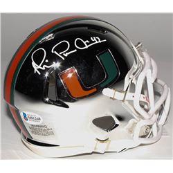 Michael Irvin Signed Miami Hurricanes Chrome Mini Speed Helmet (Beckett COA)