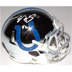 Edgerrin James Signed Indianapolis Colts Chrome Mini Speed Helmet (Radtke COA)