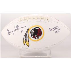 """Doug Williams Signed Washington Redskins Logo Football Inscribed """"SB XXII MVP"""" (Radtke COA)"""