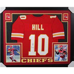 Tyreek Hill Signed Kansas City Chiefs 35x43 Custom Framed Jersey (JSA COA)