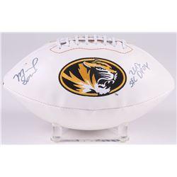 "Michael Sam Signed Missouri Tigers Logo Football Inscribed ""2013 SEC DPOY"" (Radtke COA)"