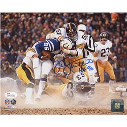 "Jack Lambert Signed Pittsburgh Steelers 8x10 Photo Inscribed ""HOF '90"" (JSA COA)"