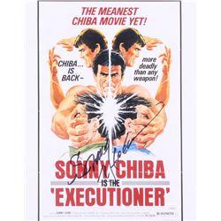 """Sonny Chiba Signed """"Executioner"""" 11x14 Photo (JSA COA)"""