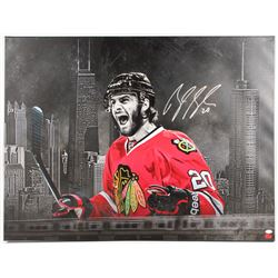 Brandon Saad Signed Chicago Blackhawks 30x39.5 Custom Mounted Print on Canvas (JSA COA  Your Sports