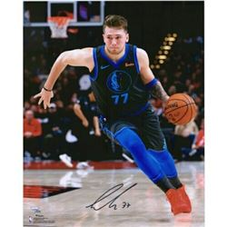 "Luka Doncic Signed Dallas Mavericks ""Dribbling"" 16x20 Photo (Fanatics Hologram)"