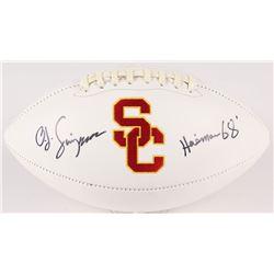 "O. J. Simpson Signed USC Trojans Logo Football Inscribed ""Heisman 68'"" (JSA COA)"