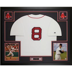 "Carl Yastrzemski Signed Boston Red Sox 35x43 Custom Framed Jersey Inscribed ""HOF 89"" (PSA COA)"