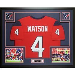 Deshaun Watson Signed Houston Texans 35x43 Custom Framed Jersey (JSA COA)