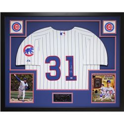 Greg Maddux Signed Chicago Cubs 35x43 Custom Framed Jersey Display (MLB Hologram)