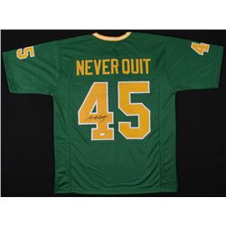 "Rudy Ruettiger Signed Notre Dame Fighting Irish ""Never Quit"" Jersey (JSA COA)"