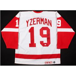 Steve Yzerman Signed Detroit Red Wings Captain Jersey (JSA Hologram)