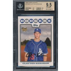 2008 Topps Update #UH240 Clayton Kershaw RC (BGS 9.5)