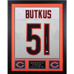 Dick Butkus Signed Chicago Bears 24x30 Custom Framed Jersey (JSA COA)