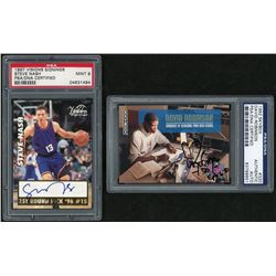 Lot of (2) Basketball Cards with 1997 Visions Signings #10 Steve Nash  1992 Skybox #320 Signed by Da