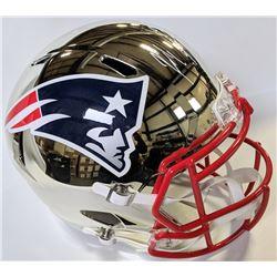 Rob Gronkowski Signed New England Patriots Chrome Full-Size Speed Helmet (JSA COA)