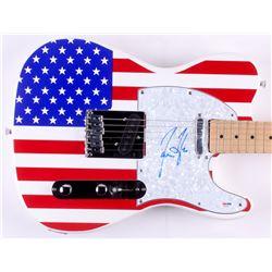 """James Taylor Signed 39"""" Huntington Electric Guitar (PSA COA)"""
