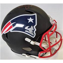Sony Michel Signed New England Patriots Matte Black Full-Size Speed Helmet (Beckett COA)