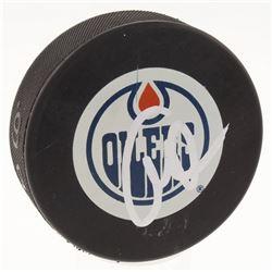 Connor McDavid Signed Edmonton Oilers Logo Hockey Puck (JSA COA)