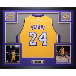 Kobe Bryant Signed Los Angeles Lakers 35x43 Custom Framed Jersey (Panini COA  Steiner Hologram)