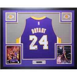Kobe Bryant Signed Los Angeles Lakers 35x43 Custom Framed Jersey (Panini COA)