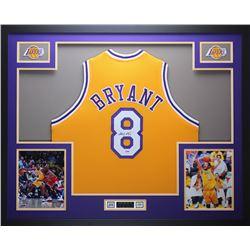 Kobe Bryant Signed Los Angeles Lakers 35x43 Custom Framed Jersey (PSA COA)