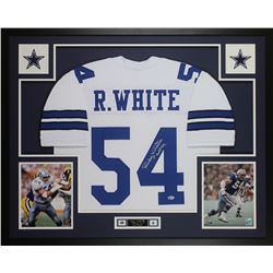 "Randy White Signed Dallas Cowboys 35x43 Custom Framed Jersey Inscribed ""HOF 94"" (Beckett COA)"