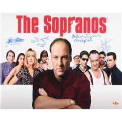 """""""The Sopranos"""" Signed 16x20 Photo Cast-Signed by (4) With Michael Imperioli, Vincent Pastore, Al Sap"""