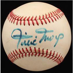 Willie Mays Signed ONL Baseball (PSA COA)