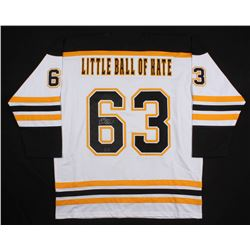 """Brad Marchand Signed Boston Bruins """"Little Ball Of Hate"""" Jersey (Marchand COA)"""