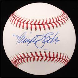 Harrison Bader Signed OML Baseball (JSA COA)