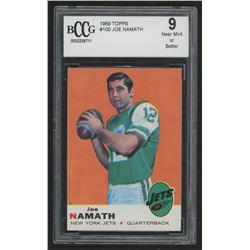 1969 Topps #100 Joe Namath (BCCG 9)