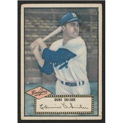 1952 Topps #37A Duke Snider Black